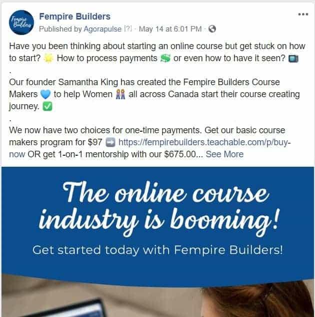 Organic Posting of Fempire Builders