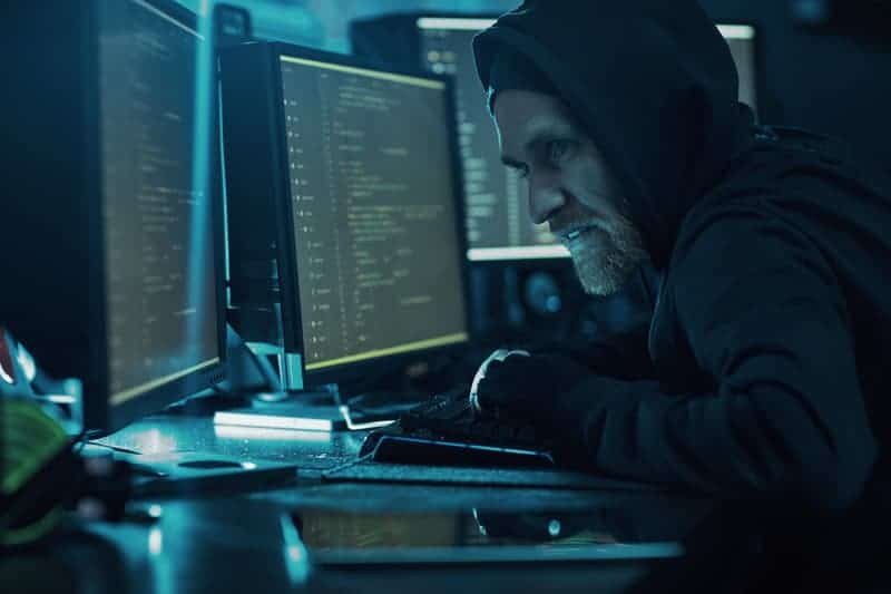 A hacker trying to bypass password security measures.
