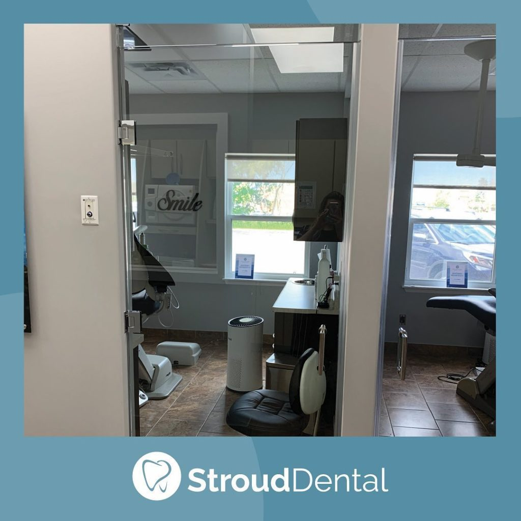 Stroud Dental Clinic with modifications to office to protect patients