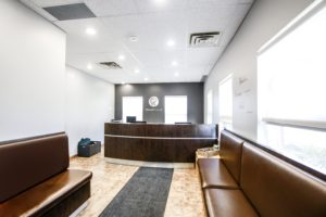 Stroud Dental clinic reception desk in Innisfil, Ontario