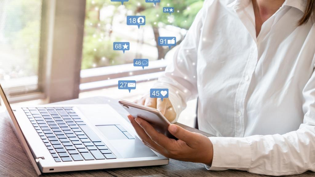 website content for social media